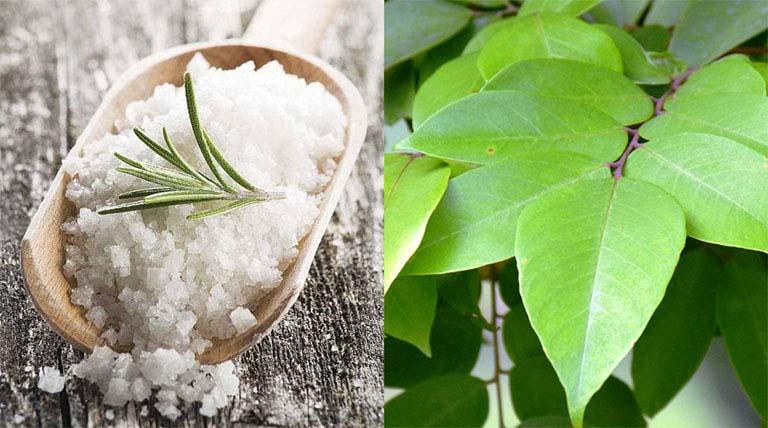 Dùng kết hợp lá khế tươi với muối hạt để điều chế thành bài thuốc đắp trị bệnh
