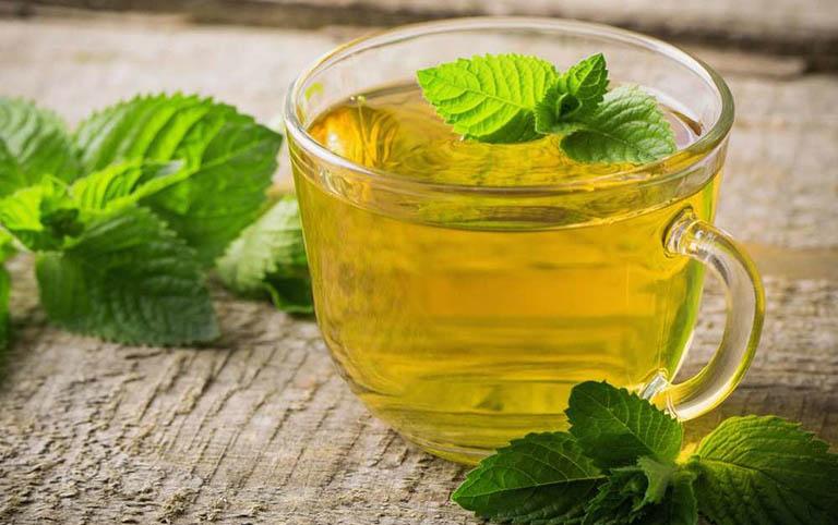 dùng trà bạc hà chữa đau dạ dày tại nhà