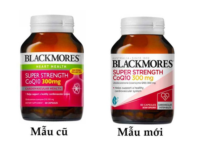 Blackmores Super Strength CoQ10 300 mg mẫu mới và mẫu cũ
