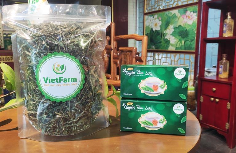 Dược liệu xuyên tâm liên sấy khô đạt chuẩn của Trung tâm dược liệu Vietfarm