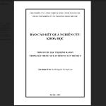 Báo cáo kết quả nghiên cứu thảo dược đặc trị bệnh dạ dày trong Sơ can Bình vị tán thế hệ 2