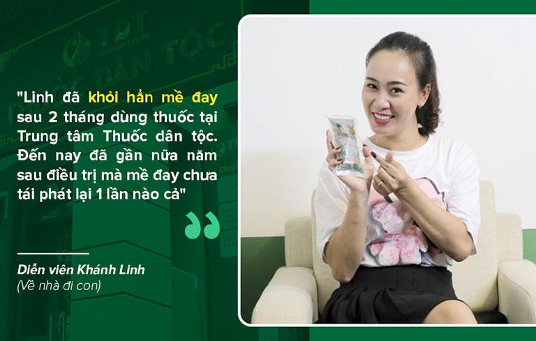 Sau 2 tháng dùng thuốc, chị Linh đã khỏi hẳn mề đay