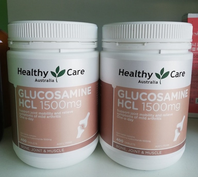 Healthy Care Glucosamine HCL loại 1500mg 400 Tablets chữa khô khớp