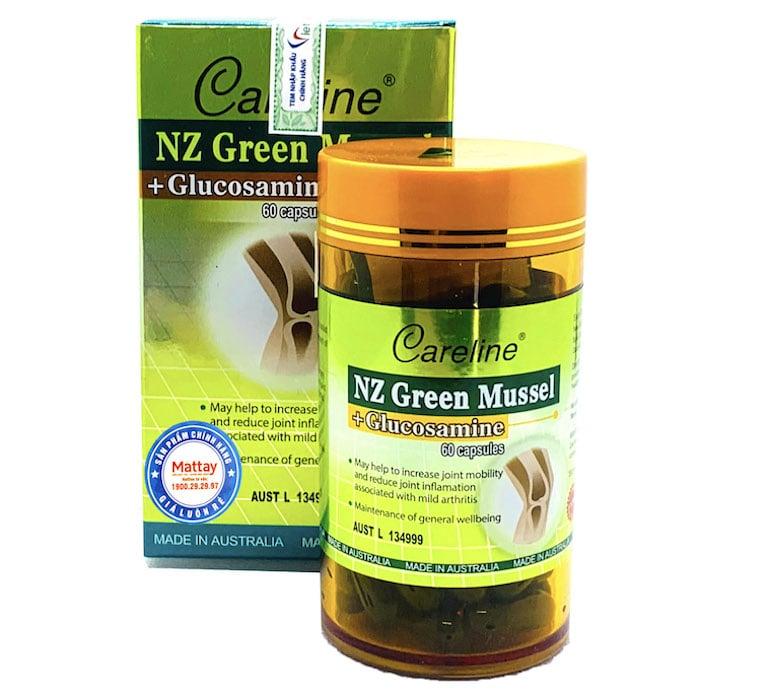 Sử dụng Careline NZ Green Mussel + Glucosamine