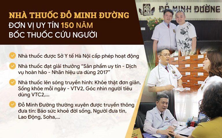 Nhà thuốc Đỗ Minh Đường - Địa chỉ khám chữa uy tín của bệnh nhân trên khắp cả nước