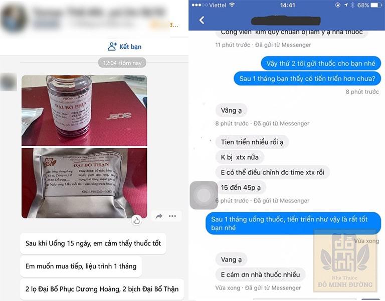Feedback của bệnh nhân về hiệu quả bài thuốc chữa xuất tinh sớm của Đỗ Minh Đường