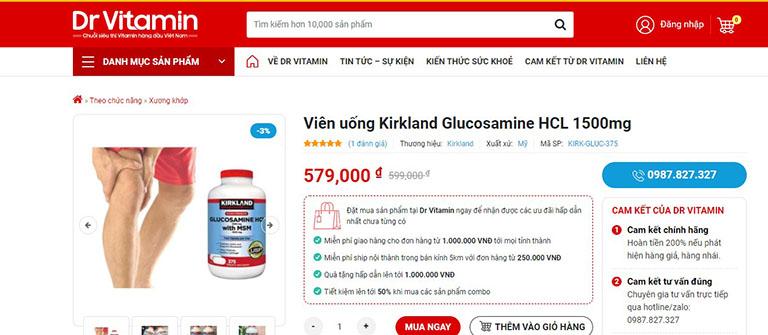 Sản phẩm được bán tại Dr Vitamin với giá 579.000 đồng