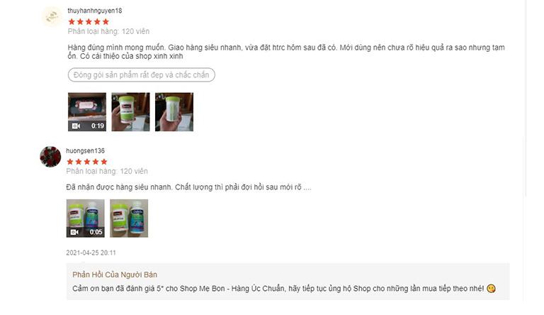 Một vài đánh giá khác trên shopee