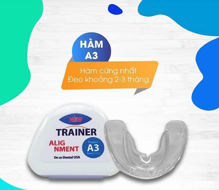 Niềng răng Trainer có 3 loại phù hợp với từng đối tượng sử dụng
