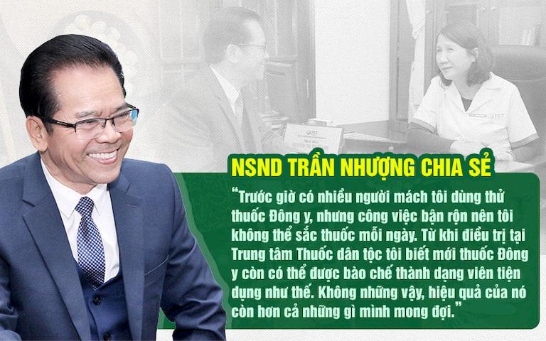 NS Trần Nhượng đánh giá cao bài thuốc