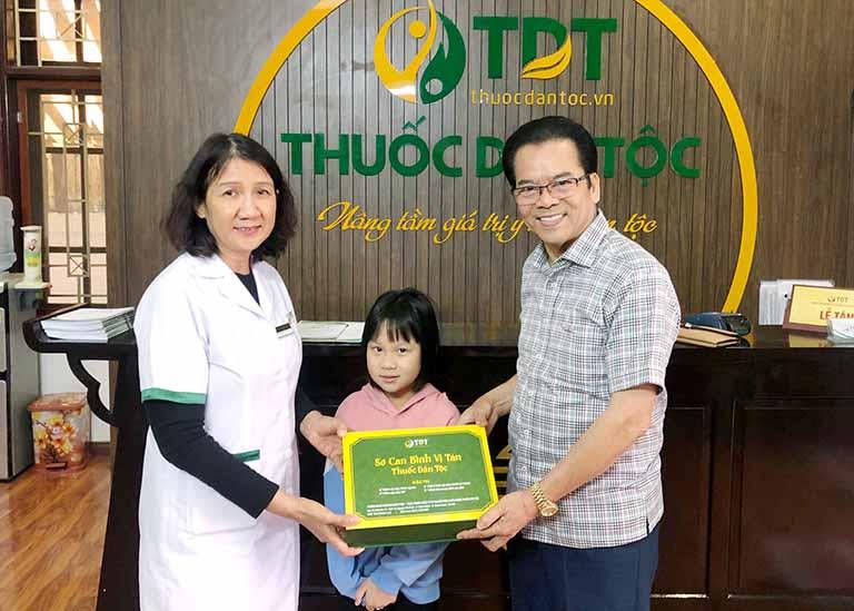 Cháu gái NS Trần Nhượng cũng được chữa khỏi HP tại Thuốc dân tộc