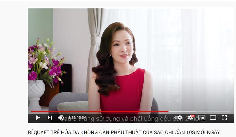 Nữ diễn viên Đan Lê chia sẻ về sản phẩm trên Youtube