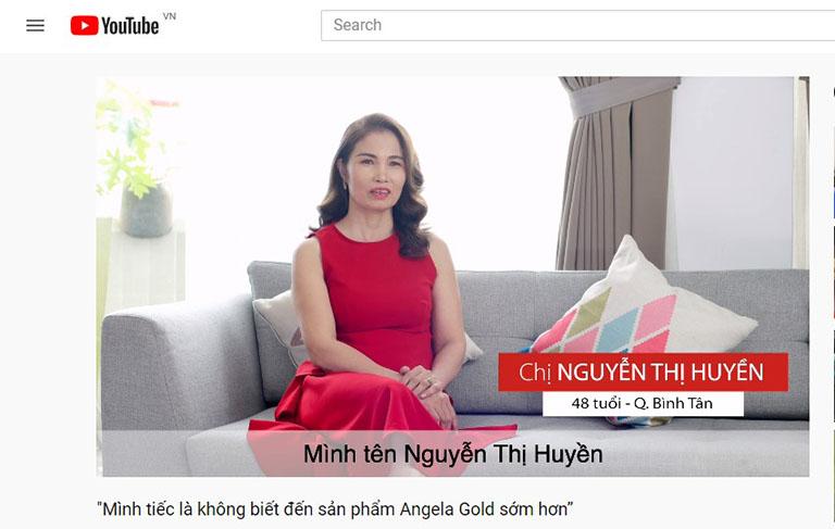 Cô Nguyễn Thị Huyền ở HCM hài lòng sau khi dùng sản phẩm