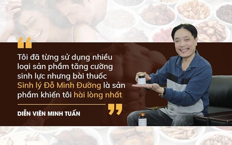 Diễn viên Minh Tuấn dành lời khen cho bài thuốc của Đỗ Minh Đường