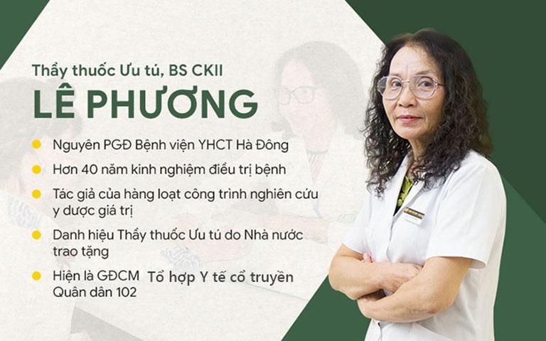 Bác sĩ Lê Phương có 40 năm kinh nghiệm khám chữa bệnh