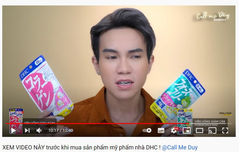 Youtuber Call Me Duy review về sản phẩm