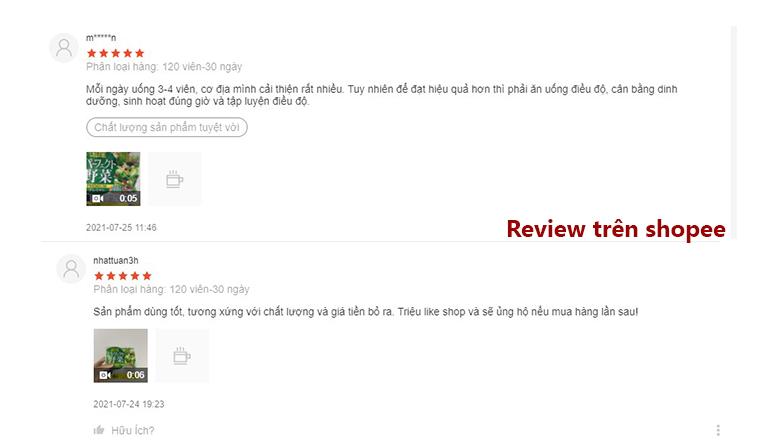 Trên shopee sản phẩm nhận được nhiều đánh giá tích cực