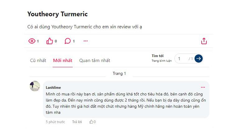 Bình luận từ khách hàng trên webtretho