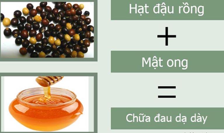 Chữa đau dạ dày bằng mật ong và bột hạt đậu rồng