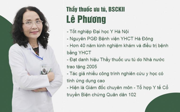 Bác sĩ Lê Phương đã có hơn 40 năm khám và chữa bệnh mề đay mẩn ngứa