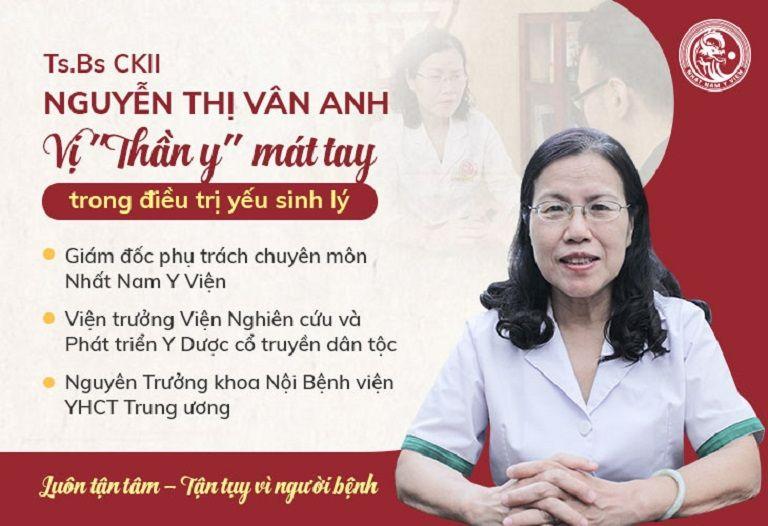 TS.BS Nguyễn Thị Vân Anh - người có hơn 30 năm kinh nghiệm điều trị nam khoa