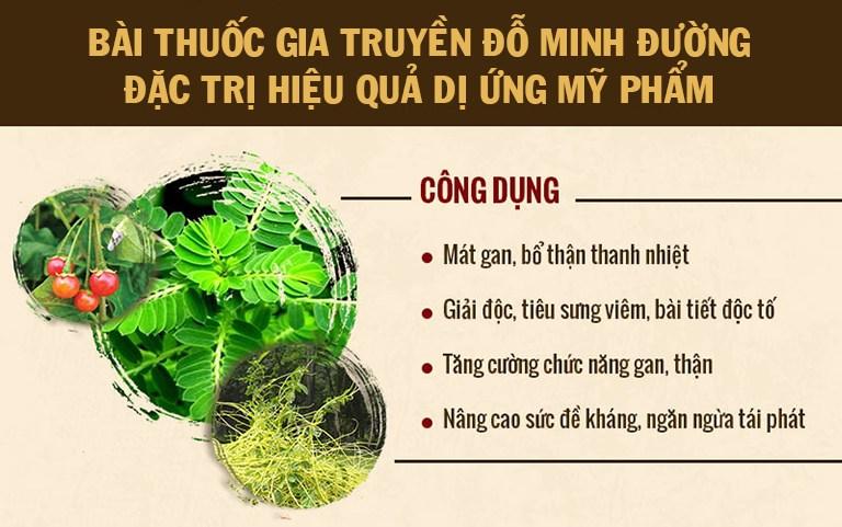 Bài thuốc chữa dị ứng mỹ phẩm Đỗ Minh Đường có nguồn gốc từ 150 năm trước