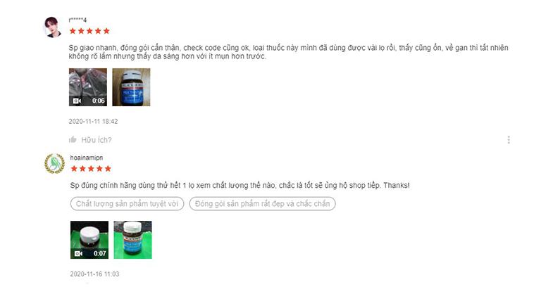 Một số bình luận 5 sao trên Shopee
