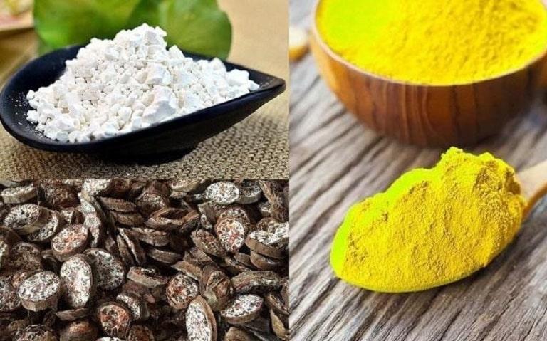 Kết hợp tinh bột nghệ, mật ong, bột sắn dây và chuối hột cho hiệu quả cao