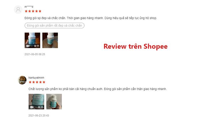 Đánh giá từ người dùng trên shopee
