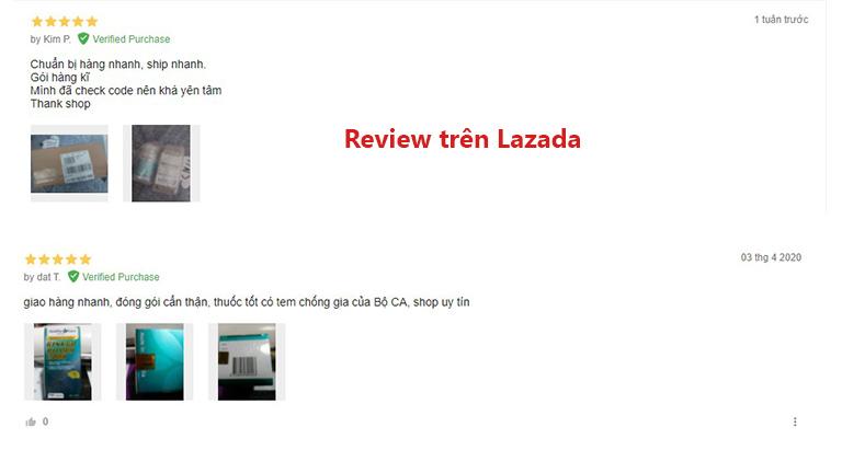 Bình luận từ khách hàng trên lazada