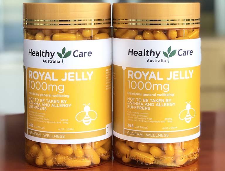 Healthy Care Royal Jelly có chiết xuất từ sữa ong chúa hàm lượng 1000mg