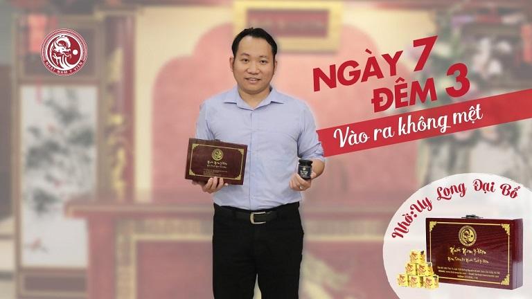 Anh Trần Việt Đức sử dụng liệu trình của bài thuốc Uy Long Đại Bổ