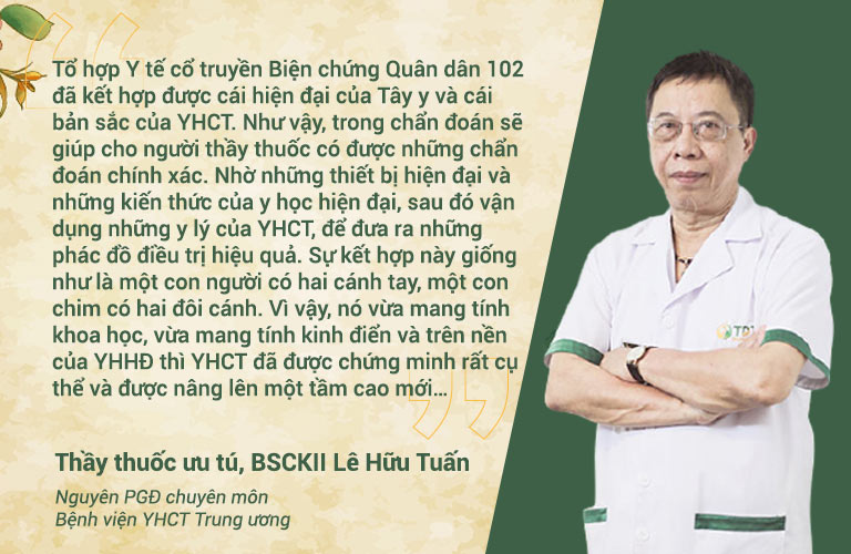 Thầy thuốc ưu tú, BSCKII Lê Hữu Tuấn - Nguyên PGĐ chuyên môn Bệnh viện YHCT Trung ương