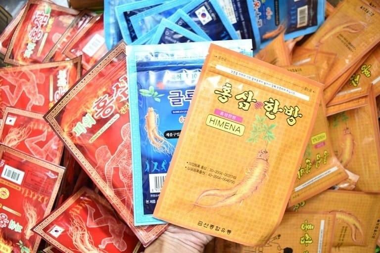 3 loại miếng dán giảm đau hồng sâm Hàn Quốc