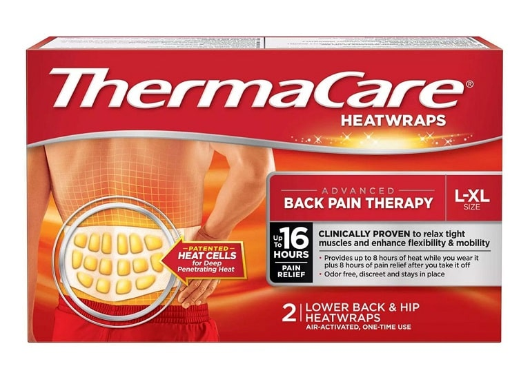 Miếng dán ThermaCare Lower Back & Hip Heat của Mỹ