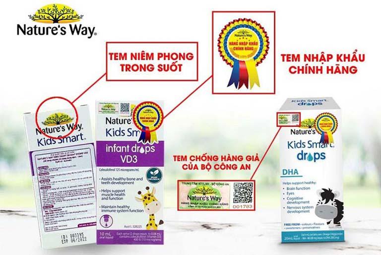 Các sản phẩm của Nature's Way luôn có 2 - 3 tem chống giả