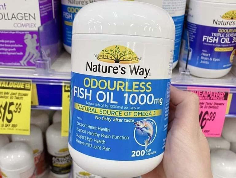 Nature's Way Fish Oil 1000mg 200 Capsules có nhiều ưu điểm nổi bật