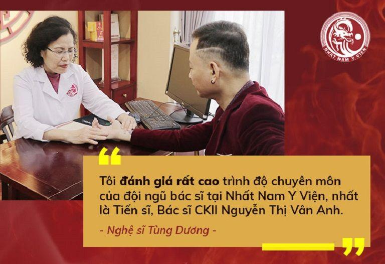 Chia sẻ của nghệ sĩ Tùng Dương khi được TS.BS Vân Anh trực tiếp khám chữa bệnh