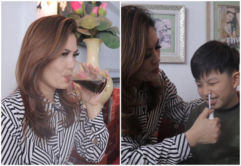 DV Hoa Thúy và con trai sử dụng bài thuốc viêm xoang, viêm mũi Đỗ Minh Đường