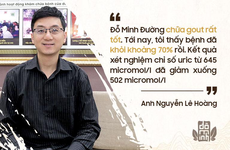 Anh Hoàng chia sẻ về hiệu quả điều trị bằng bài thuốc Gout Đỗ Minh