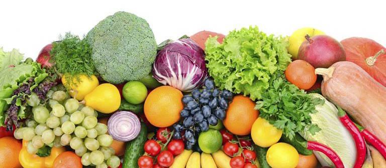Bổ sung nhiều loại rau xanh, trái cây, các loại thịt