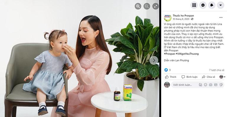 Diễn viên Lan Phương tin tưởng và lựa chọn sản phẩm cho con