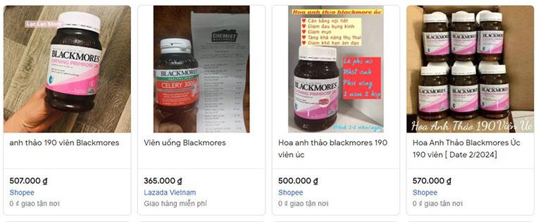 Bạn có thể mua Blackmore tinh dầu hoa anh thảo online
