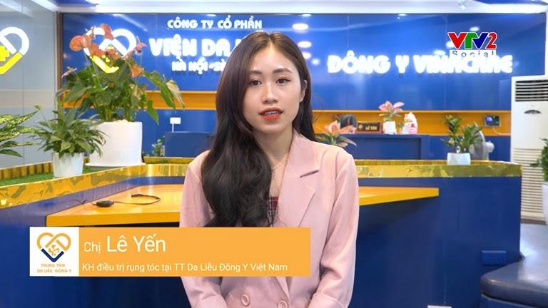 Khách hàng Lê Yến đã cải thiện rõ rệt sau khi trị liệu tại Viện Da liễu Hà Nội - Sài Gòn