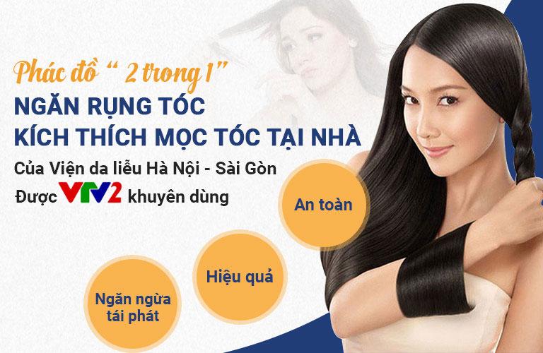 Phác đồ kích thích mọc tóc và giảm rụng tóc tại nhà của Viện Da liễu Hà Nội - Sài Gòn đem đến hiệu quả cao, duy trì lâu dài