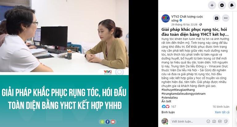 VTV2 đưa tin về giải pháp hỗ trợ điều trị rụng tóc của Viện Da liễu Hà Nội - Sài Gòn