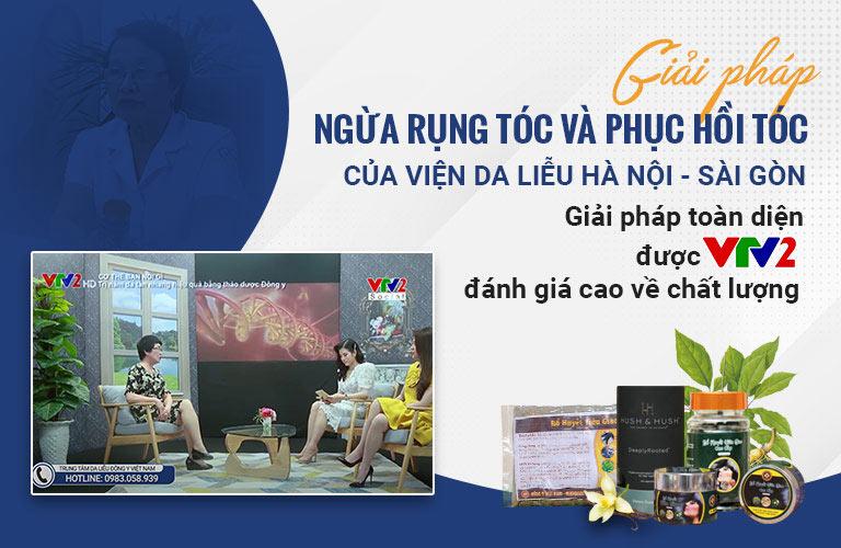 Giải pháp điều trị rụng tóc của Viện Da liễu Hà Nội - Sài Gòn VTV2 Social đưa tin