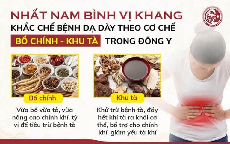 Bài thuốc Đông y Nhất Nam Bình vị khang chữa bệnh hiệu quả