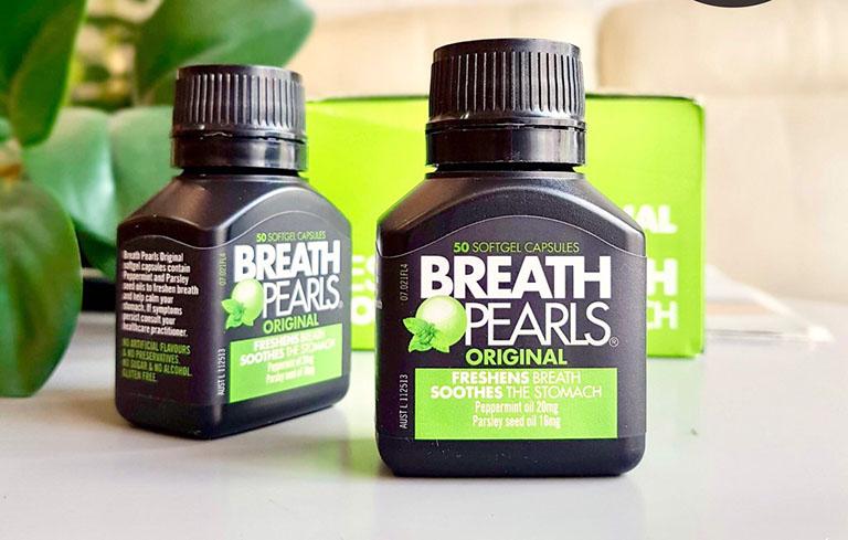 Viên uống thơm miệng Breath Pearls đến từ Úc