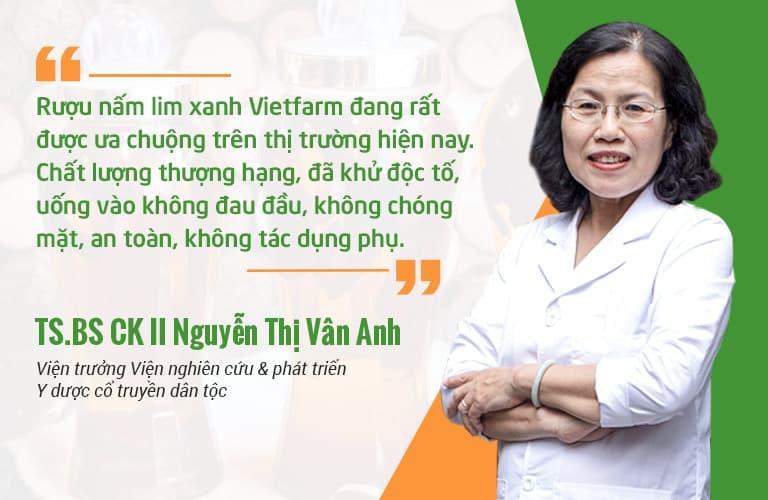 TS. Bs Nguyễn Thị Vân Anh - Viện trưởng Viện Nghiên cứu và phát triển Y dược cổ truyền dân tộc đánh giá